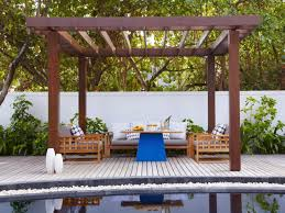 Harmonious Pool Pavilion Plans by Gazebos For Your Deck Hgtv