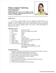 Sample Resume For Nursing Staff Nurse Philippines Examples