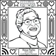 Fashionable Idea Black History Coloring Pages Month Rosa Parks Page