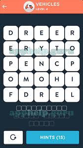 Wordbrain Themes Word Superstar Vehicles Level 4 Answer Game Help