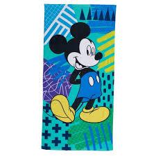 nwt disney s mickey mouse bath towel 58x28 blue green multi