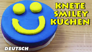 knete smiley kuchen smiley play dough how to