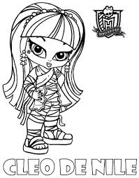 Baby Monster High Coloring Pages Activity Book Printable How To Print Image