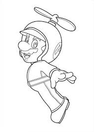 Super Mario Brothers Picture Coloring Page