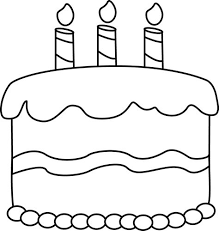 Birthday Cake Clip Art Black And White