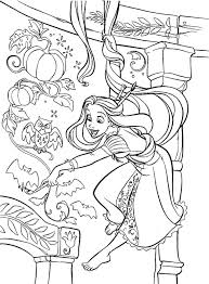 Rapunzel Castle Coloring Pages Free Printable Princess Tangled Kids Girls Barbie Colouring Full Size