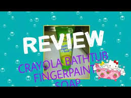 crayola bathtub fingerpaint soap review youtube
