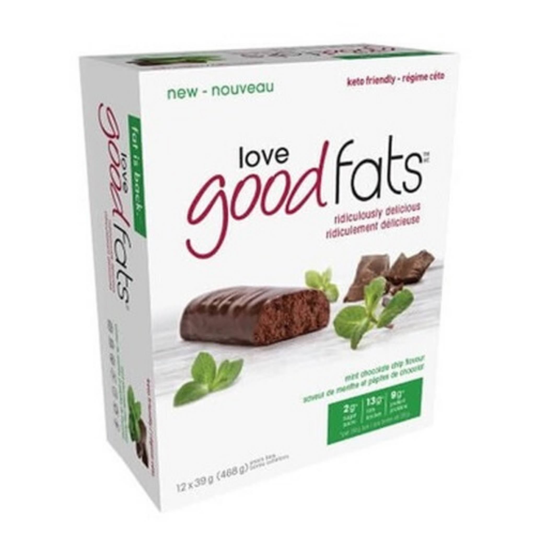 Love Good Fats Mint Chocolate Snack Bar 12ct, 39 Gr