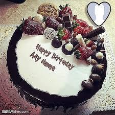 Happy Birthday Chocolate Cake For Friend Fresh Fruity Chocolate Birthday Cake With Name