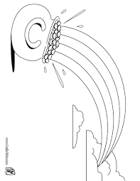 Gold Pot And Rainbow Coloring Page