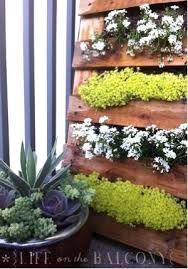 Diy Hanging Garden Wall Pallet By Life On The Balcony Mounted Herb