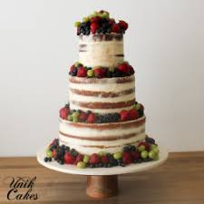 Semi Naked Wedding Cake With Fresh Fruit And Berries For A Rustic Made By Philly Area Bakery Unik Cakes