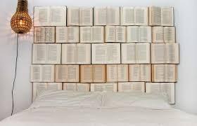 Novel Covered Bedroom Decor DIY Book Headboard