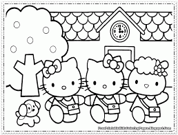 Hello Kitty Coloring Pages Girls