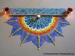 Innovative corner rangoli design using quilling b fork and