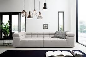 inosign big sofa beige material holz ancona mit kopfstütze