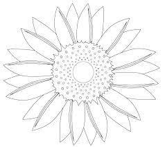 Sunflower Coloring Pages Printable Sheet Free Page Van