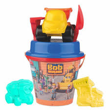 100 Bob The Builder Trucks BUCKET SET WITH Truck The Sand Toys 7 Pieces