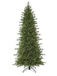 Slim Pre Lit Christmas Trees Canada by Red Spruce Slim Artificial Christmas Trees Balsam Hill
