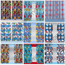 BOYS BEDROOM CHARACTER CURTAINS MARVEL STAR WARS PAW PATROL