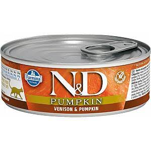 Farmina N&D Pumpkin Cat Food - with Venison, 80g