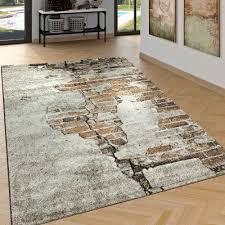 kurzflor teppich wohnzimmer 3 d stein muster