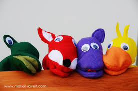 make your own felt animal hand puppets free template included