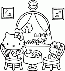 Hello Kitty Coloring Pages To Print Coloringstar Online Large Size
