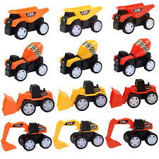 Amazon.com: LEHII Sandbox Toy Trucks For Kids Boys And Girls, 12 ...