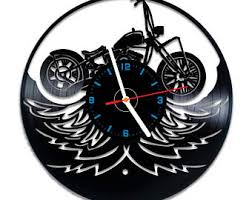 Harley Davidson Vinyl Wall Clock Nice Home Decor Best Gift Idea For Any Occasion
