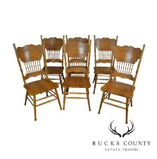 Victorian Style Set 6 Oak Press Back Dining Chairs – Bucks County ... Press Back 5 Piece Ding Set Pressback Table And Chairs Redo Originally A Light Oak Set From The Sold Vintage Pressed In As Old White Daisys Doo Dahs Fniture Chairs Stone Barn Antique Oak Ding Table With 1 Leaf 4 Modern Pressback Chairs Nostalgia Traditional Double Pressback Side Chair Colantonio Chair Makeover Larkin Wikipedia Buttonwood Countryside Amish Five Christopher Columbus Press Back 1893 Chicago Worlds Fair Victorian Of 6 Antique Carved Elm Oak 31285
