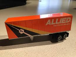 100 Roadway Trucking TYCO US1 Allied Moving Van Trailer TYCO US1