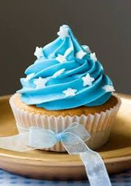 blue cupcake frosting Great idea for a baby shower
