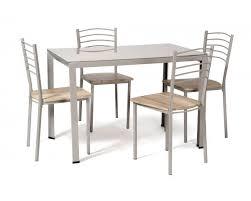 table et 4 chaises ensemble table et 4 chaises taupe naturelle palmi lestendances fr
