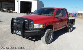 2003 Dodge Ram 2500 Quad Cab Flatbed Pickup Truck | Item DA2...