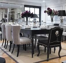 Brilliant Decoration Black Dining Room Table Set Nice Decor Elegant