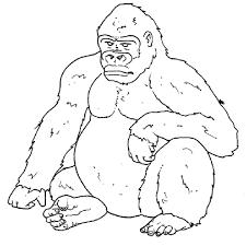 Coloring Page Gorilla Animals 5