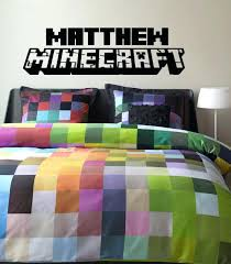 Amazing Minecraft Bedding Australia Home Decor Best Comforter Ideas On Vinyl Wall Decal With Personalized By