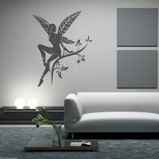 Wall Mural Decals Tree by Wild Flower Fairy Plant Tree Wings Wall Stickers Decals Murals