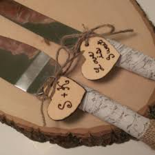 Rustic Wedding Cake Knife Customized Burlap By RedHeartCreations