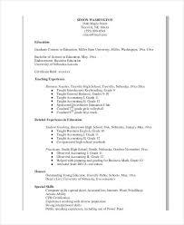 Sample Experienced Teacher Resume