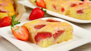 rezept versunkener erdbeerkuchen vom blech erdbeer blechkuchen
