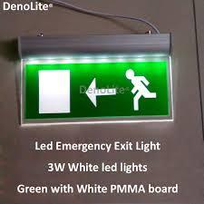 3 6v battery led emergency exit light 3w white led exit sign