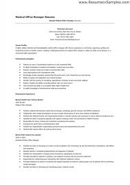Download Medical Fice Manager Resume Sample Of Department Example