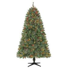 65 400 Multi Colored Light Houston Mixed Pine Christmas Tree