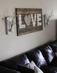 Appealing Rustic Living Room Wall Decor And Brilliant Corner Sofa Handmade
