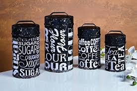 Subway Food Safe Tin Canister Set Rustic Vintage Retro Kitchen Coffee Shop Decor By Ohio Wholesale