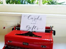 Cards Gifts Box Card Decoration Wedding Table Sign