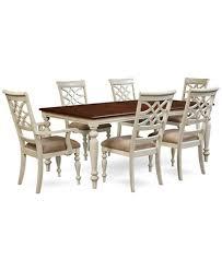 Dining Room Windward 7 Pc Set Table 4 Side Chairs 2 Arm Inside Macys Plan 16