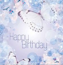 Happy Birthday Purple Butterflies